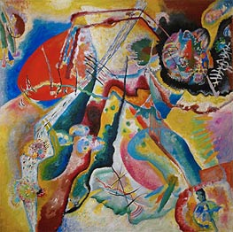 The Red Spot, 1914 by Kandinsky | Painting Reproduction