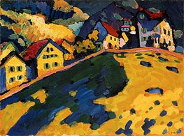 Summer Landscape, 1909 by Kandinsky | Painting Reproduction