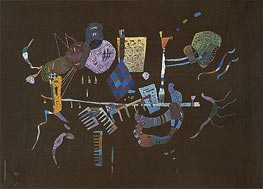 Around the Line, 1943 by Kandinsky | Painting Reproduction