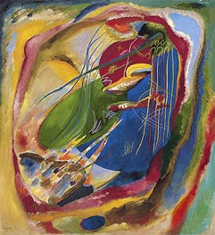 Picture with Three Spots, No. 196, 1914 by Kandinsky | Painting Reproduction