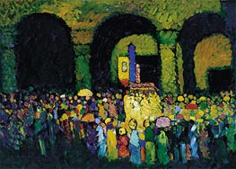 The Ludwigskirche in Munich, 1908 by Kandinsky | Painting Reproduction