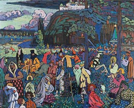 A Motley Life, 1907 by Kandinsky | Painting Reproduction