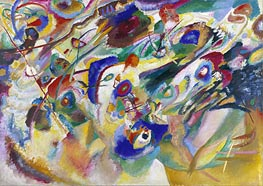Sketch 2 for Composition VII, 1913 by Kandinsky | Painting Reproduction