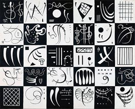 Thirty, 1937 by Kandinsky | Painting Reproduction