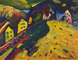 Houses at Murnau, 1909 by Kandinsky | Painting Reproduction