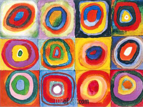 Concentric Circles, 1913 | Kandinsky| Painting Reproduction