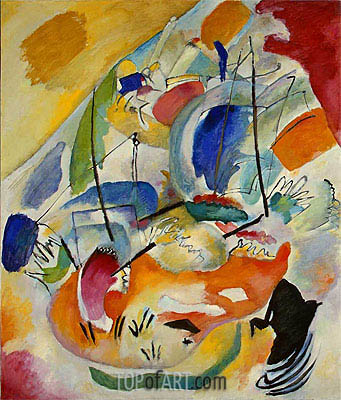 Improvisation 31 (Sea Battle), 1913 | Kandinsky | Painting Reproduction