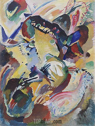 Panel for Edwin R. Campbell No. 2, 1914 | Kandinsky | Gemälde Reproduktion