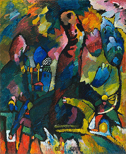 Picture with an Archer, 1909 | Kandinsky | Gemälde Reproduktion