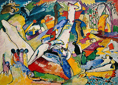 Skizze für 'Komposition II', c.1909/10 | Kandinsky | Gemälde Reproduktion