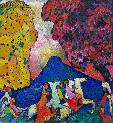 Blue Mountain, c.1908/09 | Kandinsky| Painting Reproduction