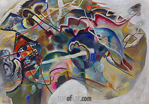 Painting with White Border, 1913 | Kandinsky| Painting Reproduction