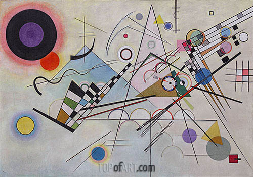 Composition 8, 1923 | Kandinsky| Painting Reproduction