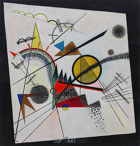 In the Black Square, 1923 | Kandinsky| Painting Reproduction
