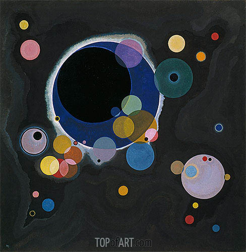 Several Circles, 1926 | Kandinsky| Painting Reproduction