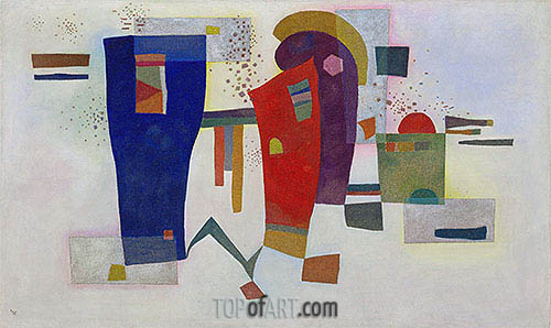 Accompanied Contrast, 1935 | Kandinsky| Painting Reproduction