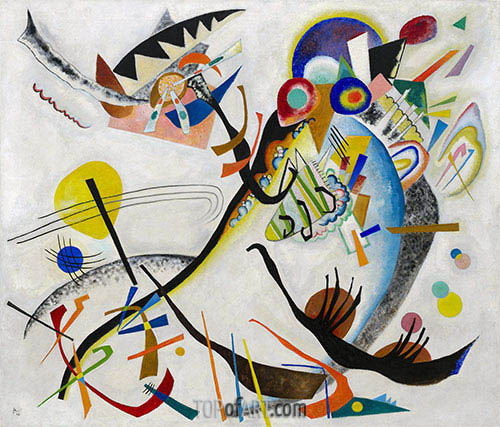 Blue Segment, 1921 | Kandinsky | Painting Reproduction