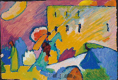Study for 'Improvisation 3', 1910 | Kandinsky | Painting Reproduction