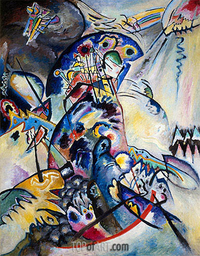 Blue Comb, 1917 | Kandinsky| Painting Reproduction