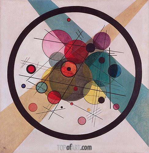 Circles in a Circle, 1923 | Kandinsky| Painting Reproduction