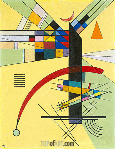 Small Yellow, 1926 | Kandinsky | Gemälde Reproduktion