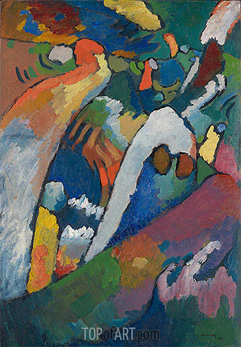 Improvisation No. 7 (Storm), 1910 | Kandinsky | Painting Reproduction