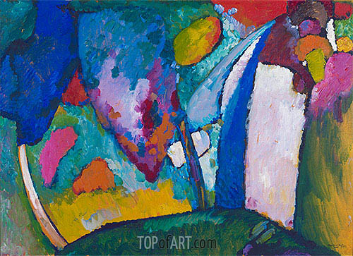 The Waterfall, 1909 | Kandinsky | Gemälde Reproduktion
