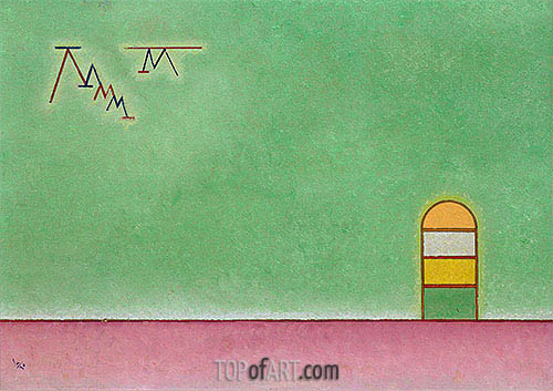 Green Vacancy, 1930 | Kandinsky | Painting Reproduction