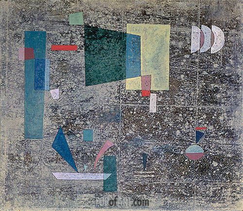 Slow Emission, 1931 | Kandinsky| Painting Reproduction