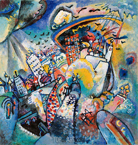 Moscow I, 1916 | Kandinsky | Painting Reproduction