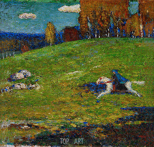 The Blue Rider, 1912 | Kandinsky | Painting Reproduction