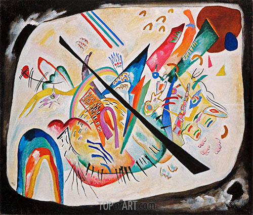 White Oval, 1919 | Kandinsky | Painting Reproduction