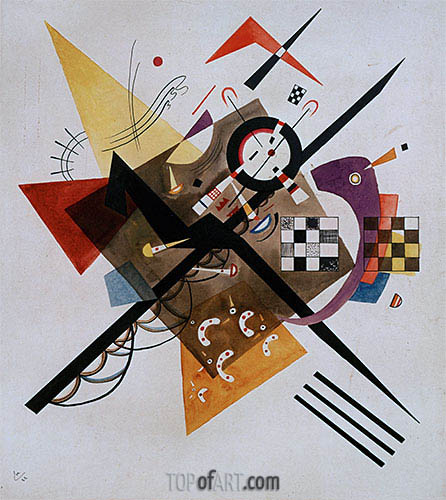 On White II, 1923 | Kandinsky| Painting Reproduction