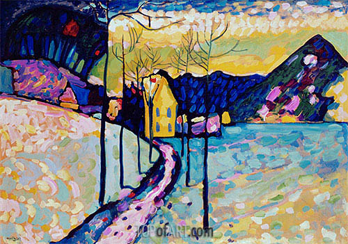 Winter Landscape, 1909 | Kandinsky| Painting Reproduction