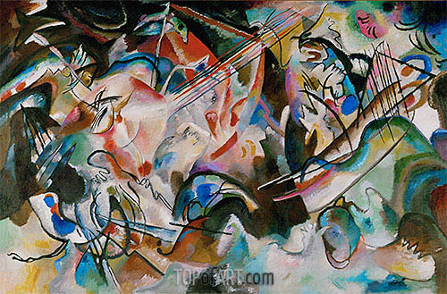 Composition No. 6, 1913 | Kandinsky| Painting Reproduction