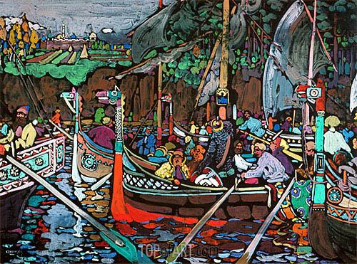 Kandinsky | Song of the Volga, 1906