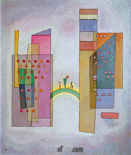 The Bridge, 1931 | Kandinsky| Gemälde Reproduktion