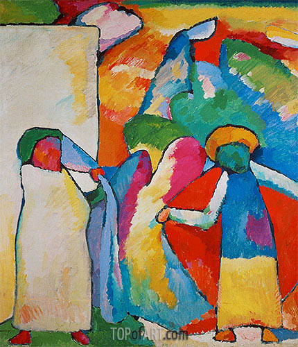 Improvisation No. 6 (Africans), 1909 | Kandinsky | Painting Reproduction