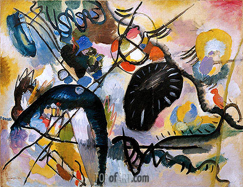 Black Spots, 1912 | Kandinsky | Painting Reproduction
