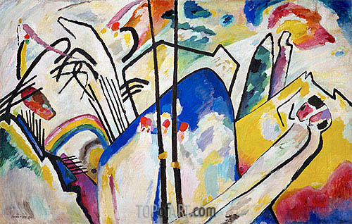 Composition No. 4, 1911 | Kandinsky | Painting Reproduction