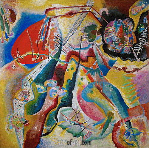 The Red Spot, 1914 | Kandinsky | Painting Reproduction