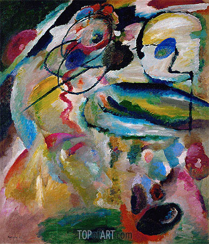 Picture with a Circle, 1911 | Kandinsky| Painting Reproduction