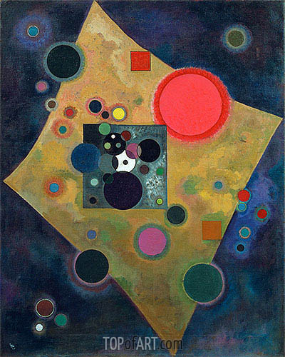 Accent en Rose, 1926 | Kandinsky| Painting Reproduction