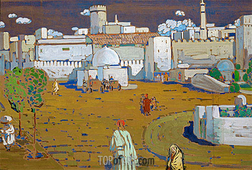 An Arab Town, 1905 | Kandinsky| Painting Reproduction