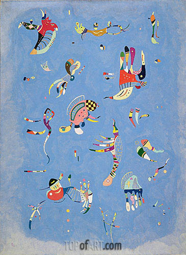 Sky Blue, 1940 | Kandinsky | Painting Reproduction