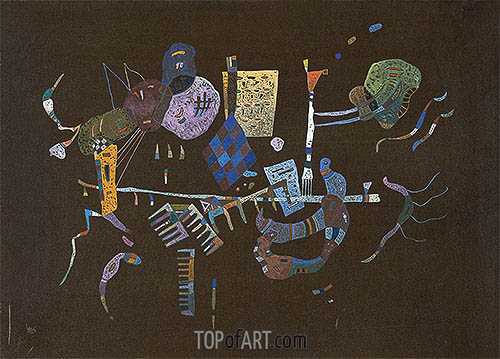 Around the Line, 1943 | Kandinsky| Painting Reproduction
