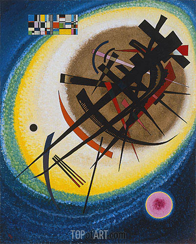 In the Bright Oval, 1925 | Kandinsky | Painting Reproduction