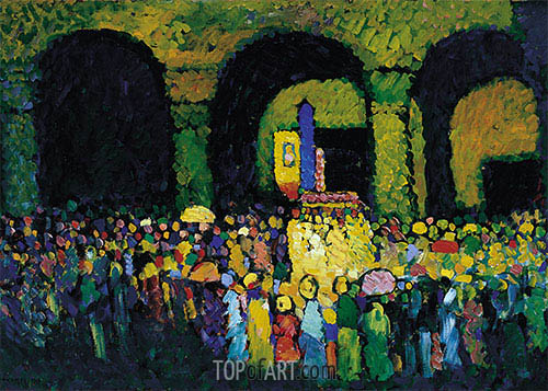 The Ludwigskirche in Munich, 1908 | Kandinsky | Painting Reproduction