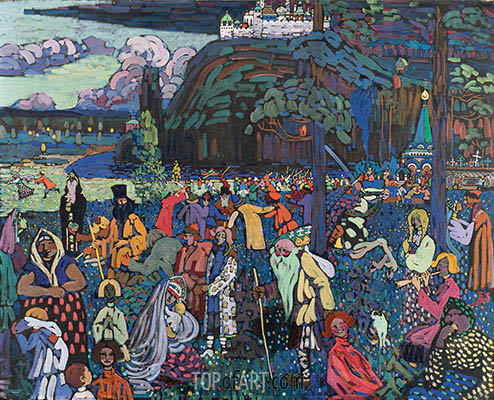 A Motley Life, 1907 | Kandinsky | Painting Reproduction