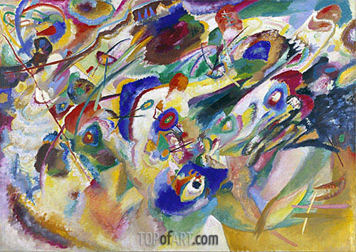 Sketch 2 for Composition VII, 1913 | Kandinsky| Painting Reproduction